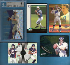 PEYTON MANNING BGS MINT 9 EX ROOKIE + BOWMAN RC + DEMARYIUS THOMAS TEBOW JERSEY