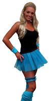 4 pc Set Neon Pleated Tutu 1980s Rave Fancy Dress Dance School Hen Party UK Made