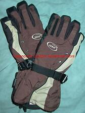 GLOVES  ZERO STUD MUFFIN WOMEN'S LARGE BROWN STUDDED WATERPROOF SNOWBOARD, NEW!