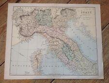 Anni 1870? WILLIAM MACKENZIE incisa mappa dell'Italia 12.25 x 9.5