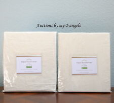Set/2 Pottery Barn Classic Belgian Flax Linen Curtains Drapes Panels 50x96 Ivory
