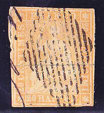 Schweiz-Schweizerische Bundespost-1854-20 Rappen-Berner Druck-sitzende Helveti