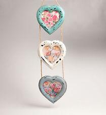 Shabby Chic Triple Heart Hanging Photo Frame Medium Delilah by Sass & Belle