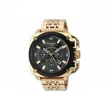 "DIESEL DZ7378 Men's ""BAMF"" Oversize Black Chronograph Gold tone Watch NEW! $375"