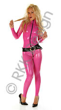XXL 100% Latex Rubber DEEP PINK Catsuit Second Skin Top Quality *HOT*