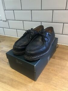 Paraboot Michael Shoes Black Leather UK 8 With Box, Only Year Old.