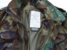 MADE IN USA ALPHA INDUSTRIES M-65 LARGE GENUINE NEW Combat Field Jacket WOODLAND
