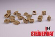 LEGO® 20x 3024 *NEU* Platte 1x1 / Platten / Steine / Basic / dunkelbeige 4549436
