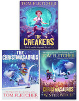 Tom Fletcher 3 Books Collection Set Christmasaurus and the Winter Witch,Creakers
