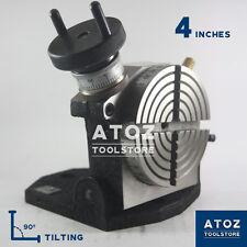 "4"" (100mm) Precision Tilting Rotary Table Atoz  NEW PREMIUM QUALITY"