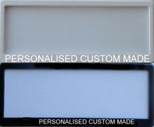 One Pair Of - 1 Line Custom Personalized Slimline Number Plate Surround Frame