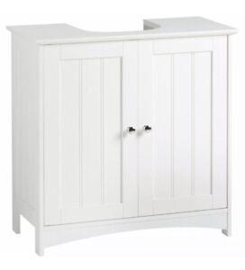 Sink Under Basin Unit Bathroom Cupboard Cabinet White Furniture Storage
