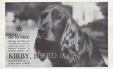 Publicité  KIRBY BEARD & Co Teckel à poil long  vintage print ad  1933 - 11h