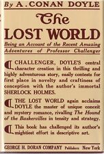 THE LOST WORLD-ARTHUR CONAN DOYLE-1ST ED/1ST PRINTING-1912-BEAUTIFUL COPY W/DJ!