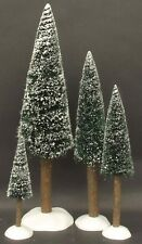 * Dept 56 For Snow/Heritage Villages Frosted Fir Trees, Set Of 4 - Nib *