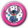 PERSONALISED LILO AND STITCH (STITCH ONLY)  BIRTHDAY BADGE/MAGNETS/MIRRORS