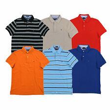 Tommy Hilfiger Camisa Polo para hombre de malla de ajuste personalizado informal de algodón con cuello nuevo nuevo con etiquetas
