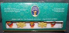Winnie the Pooh Christmas Tree Lights Pooh & Snowflakes Disney Store 10 Lights