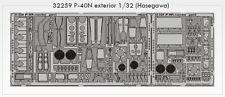 Eduard 1/32 P-40N Warhawk Exterior Para Hasegawa kit # 32259