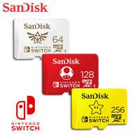 SanDisk 64GB 128GB 256GB microSDXC Nintendo Switch UHS-I U3 Speed up to 100MB/s