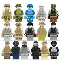 16pcs/set Navy Seals Military Soldier Building Blocks Figures Educational Toys