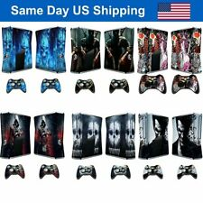 Design Full Set Vinyl Skin Cover Decal for Xbox 360 Slim Console & 2 Controllers