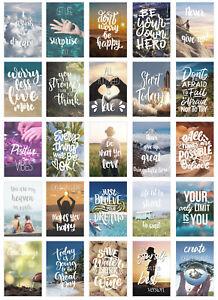 Set 25 Postkarten Leben & Momente mit Sprüchen  (20832)