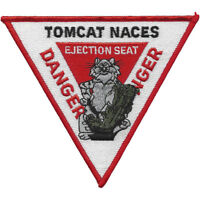 US Navy Tomcat F-14 Naces Ejection Seat Sign Patch , DANGER DANGER  NEW!!!