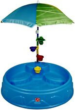 New Play and Shade Kiddie Swimming Pool, Durable Poly-Plastic, Umbrella and Toys