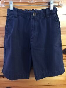 Hanna Andersson Shorts Boys Navy Adjustable Waist Size 140 10-12