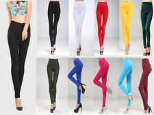 Women Ladies Full Length Leggings Pants High Waist Trousers Stretchy Size 6-20