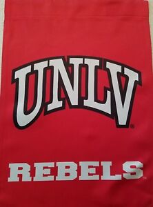 UNLV GARDEN FLAG TWO SIDED AND UNLV HAT COMBO