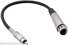 """9"""" inch RCA(M) to XLR(F) Mixer Powered Speaker Amplifier Pro Apapter Cable VWLTW"""