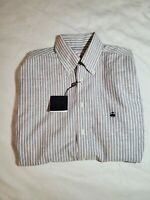Brooks Brothers Mens Button Down Madison Non Iron Striped Shirt Size Small