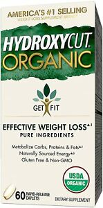 HydroxyCut Organic Weight Loss Supplement 60 Caplets Hydroxycut Exp:03/21