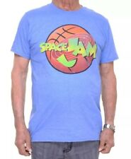 Looney Tunes Brand Space Jam Men's Size LARGE T-Shirt Blue Short Sleeve Jordan