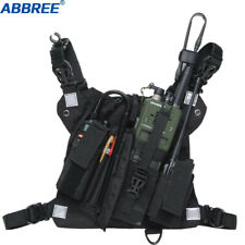 Abbree Chest Harness Front Pack Pouch Holster Carry Case for Baofeng UV-5R UV-82