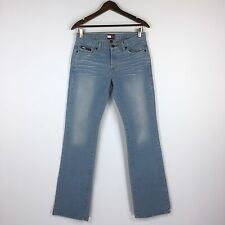 Womens Vintage Tommy Jeans Size 7 Mid Rise Straight Legs Jeans Light Wash W32x32