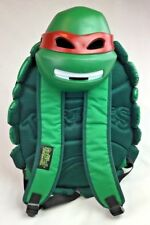 Mutant Ninja Turtle Shell Back Pack Green And Red Raphael Mask Insulated Padded