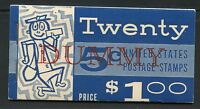 UNITED STATES $1 COMPLETE BOOKLET OVERPRINTED DUMMY  WITH BLANK PANES AS SHOWN