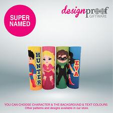 4 x Personalised Superhero Icy-Pole Holder Coolers - zooper dooper ice pop kids