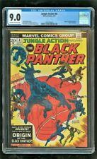 CGC 9.0 JUNGLE ACTION #8 MARVEL COMICS 1974 ORIGIN OF THE BLACK PANTHER
