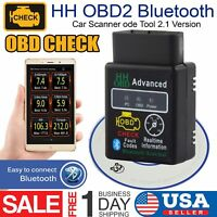 ELM327 HH OBD2 Bluetooth Car  Scanner Android Torque Auto Diagnostic Tool