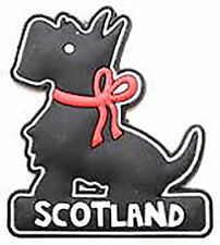 Scottish Iconic Black Scottie Dog with Red Bow Scotland PU Home Kitchen Magnet