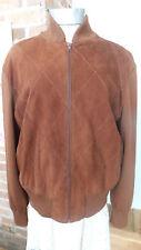 Vtg Bruno Magli Jacket Sweater Suede harlequin stitched Front Knit sleeves Sz 44