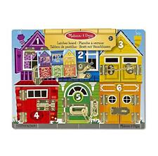 Kids Play Board challenges Toys Doug Latches Wooden Activity Educational Board