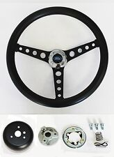 Maverick Torino Galaxie Thunderbird LTD Black on Black Steering Wheel 14 1/2""