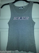 Womens FOX RIDING GEAR Gray Grey TANK TOP Wife Beater Shirt S SMALL GIRLS Junior