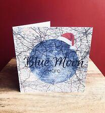 Manchester City/MCFC Divertido Luna Azul/tarjeta de Navidad Exclusivo. Interior En Blanco