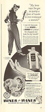 1942 WW2 era AD  HINDS Hand Cream Art Rosie holds a monkey wrench Cute ! 072815